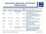 instruments spacecraft and principal characteristics1