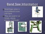 band saw information