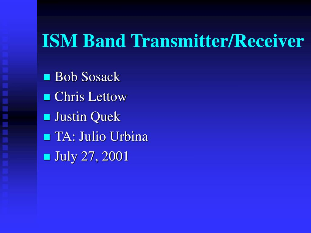 ism band transmitter receiver l.