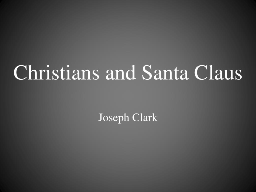 christians and santa claus l.