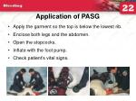 application of pasg