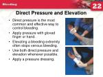 direct pressure and elevation