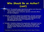 who should be an author cont