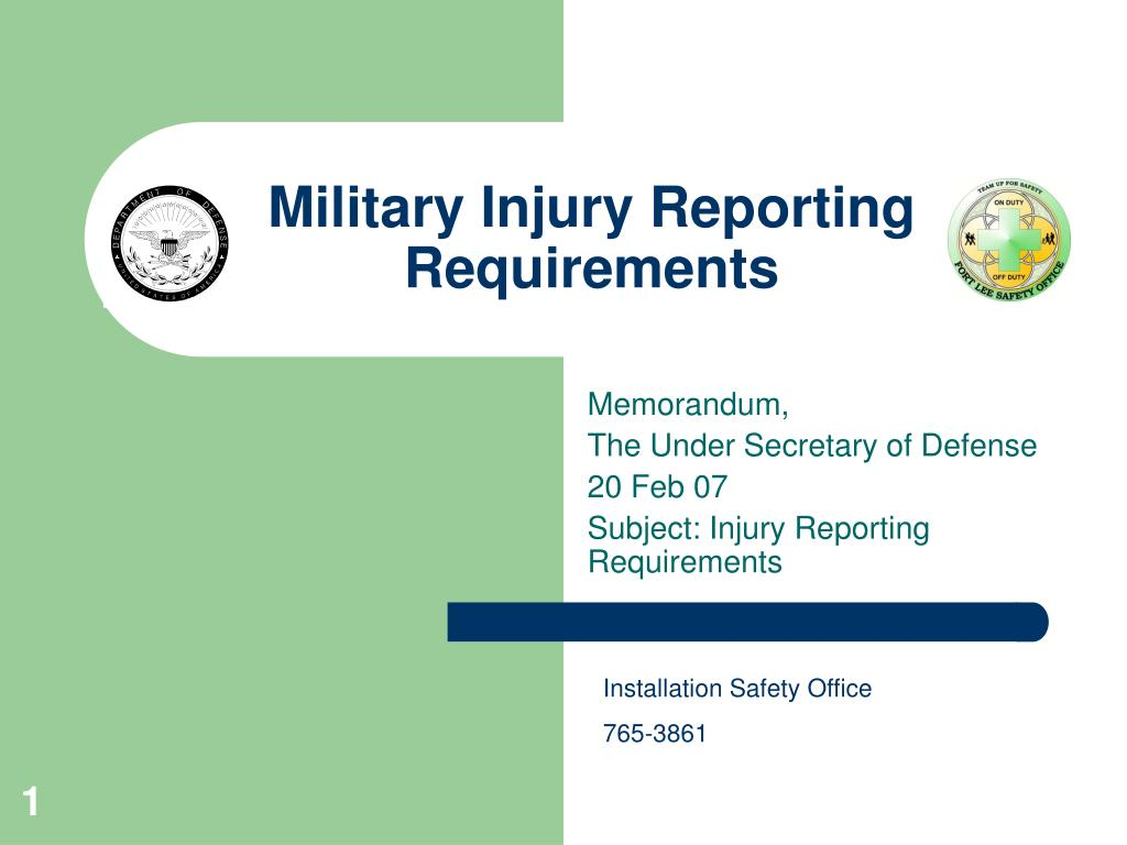 military injury reporting requirements l.