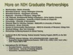 more on nih graduate partnerships