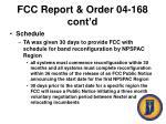 fcc report order 04 168 cont d49