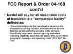 fcc report order 04 168 cont d50