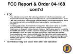 fcc report order 04 168 cont d51