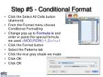 step 5 conditional format