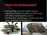 what a re earthquakes