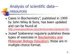 analysis of scientific data resources