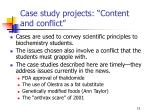 case study projects content and conflict
