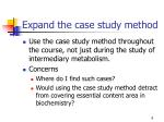 expand the case study method