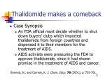 thalidomide makes a comeback