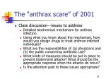 the anthrax scare of 200125