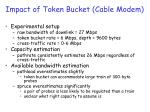 impact of token bucket cable modem