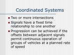 coordinated systems