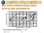 multipath error envelopes with 20 mhz bandwidth