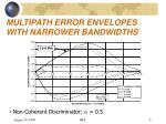 multipath error envelopes with narrower bandwidths