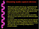 choosing audio capture devices