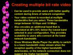 creating multiple bit rate video