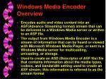 windows media encoder overview