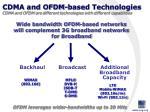 cdma and ofdm based technologies