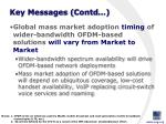 key messages contd