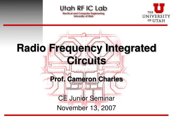 radio frequency integrated circuits n.