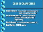 cast of characters8