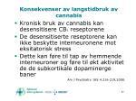 konsekvenser av langstidbruk av cannabis