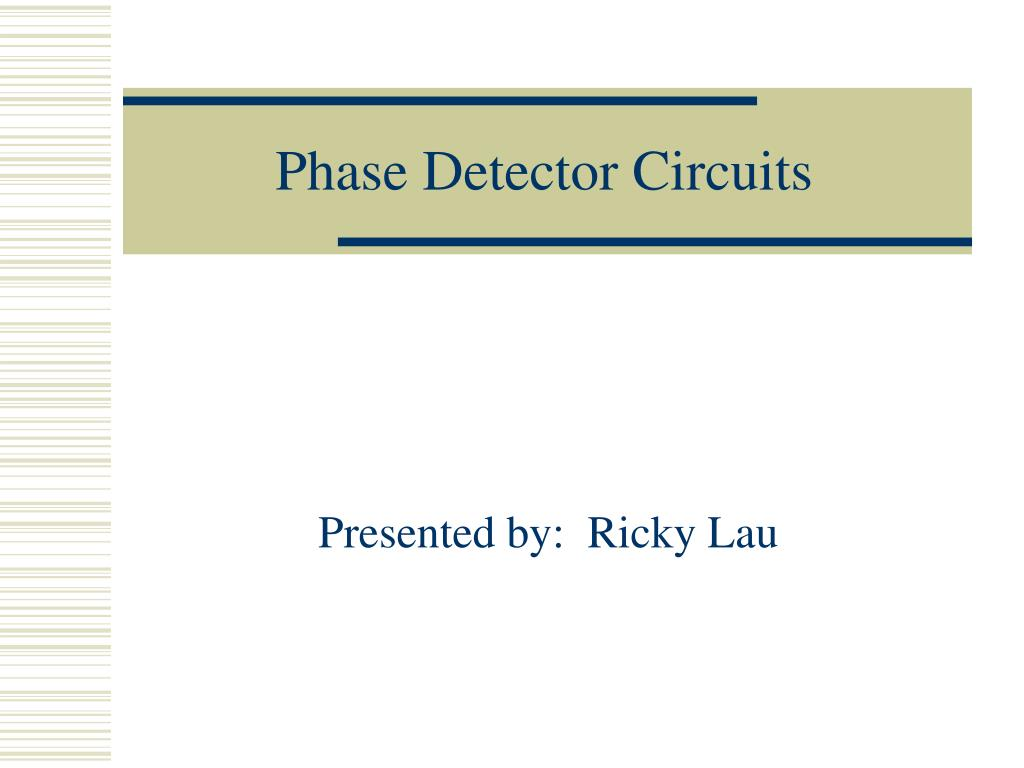 phase detector circuits l.