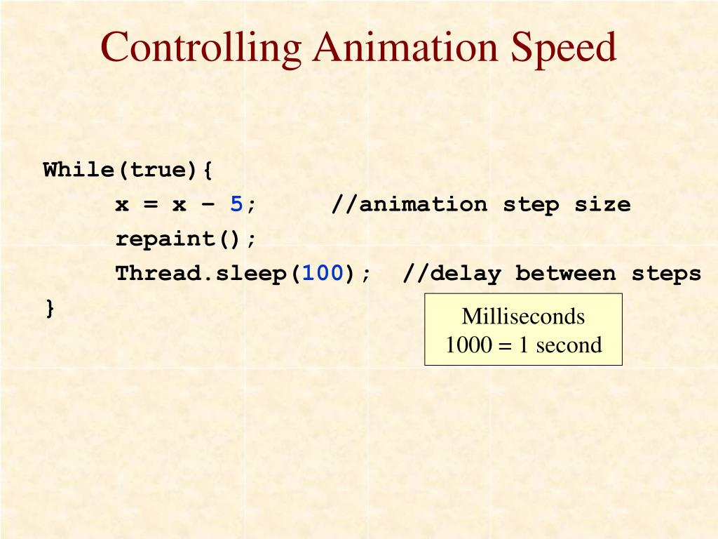 Controlling Animation Speed