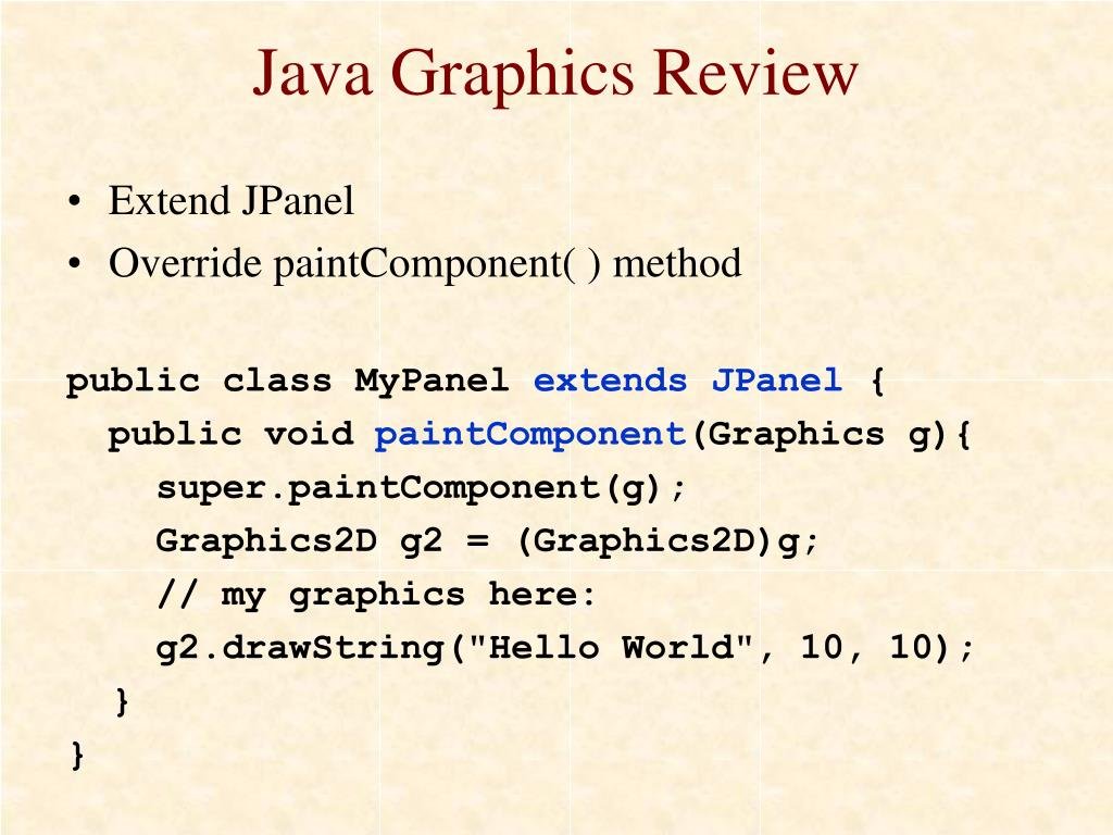 Java Graphics Review