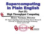 supercomputing in plain english part ix high throughput computing