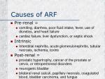 causes of arf