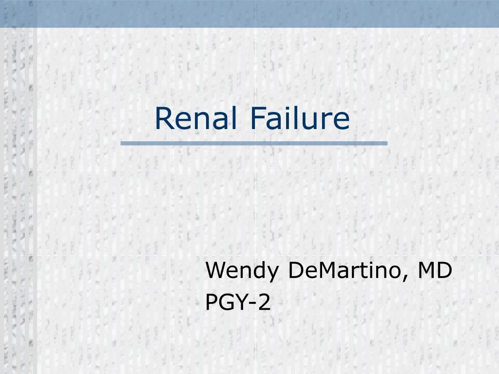 renal failure l.