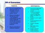 bill of guarantees