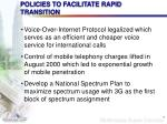 policies to facilitate rapid transition7
