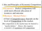 1 idea and principles of economic competition
