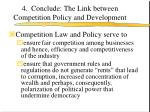 4 conclude the link between competition policy and development