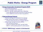 public works energy program