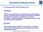 the navfac mission vision