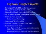 highway freight projects
