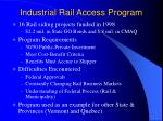 industrial rail access program