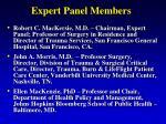 expert panel members