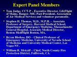 expert panel members5