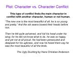plot character vs character conflict