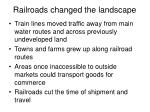 railroads changed the landscape