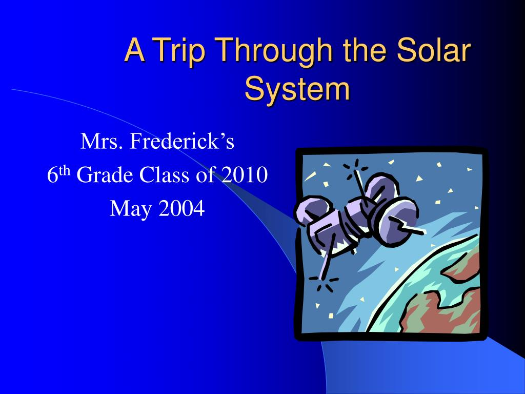 a trip through the solar system l.